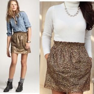 J. Crew gold sequin mini skirt